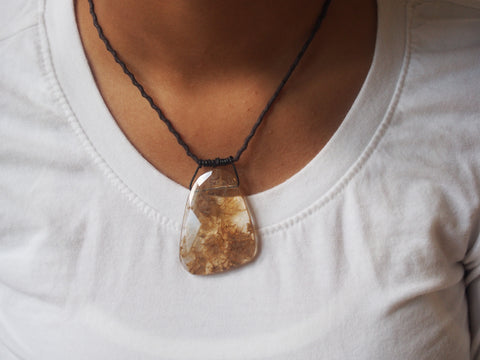 Rutilated Quartz Gemstone Necklace by Maya's Ideas