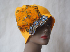 Golden Treasure 1920's Style Eco Friendly Cloche by Maya's Ideas