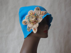 Turquoise Blossom Eco Friendly Cloche by Maya's Ideas