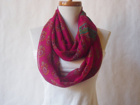 Morning in Magenta Infinity Scarf by Maya's Ideas
