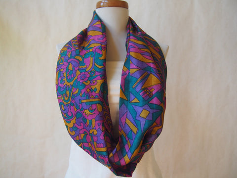 Lavender Utopia Silk Infinity Scarf by Maya's Ideas