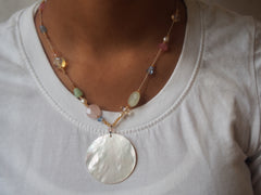 Shell and Gemstone Necklace