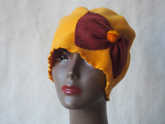 Golden Sunshine Eco-Friendly Cloche Hat by Maya's Ideas