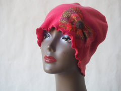 Coral Plaid Eco Friendly Cloche Hat by Maya's Ideas