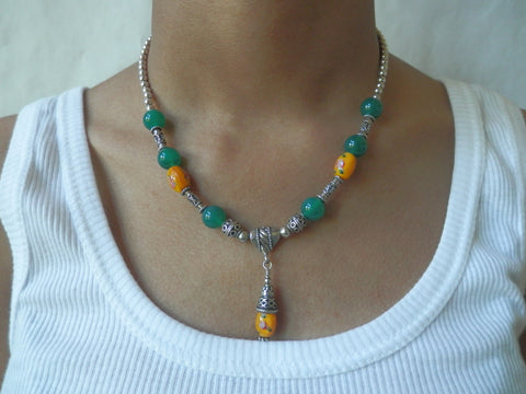 Sterling Silver Artisan Crafted Harvest Necklace