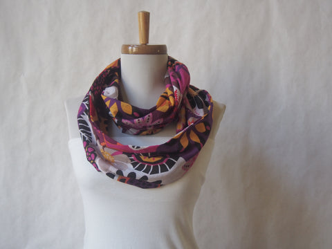 Colorburst Floral Infinity Scarf by Maya's Ideas