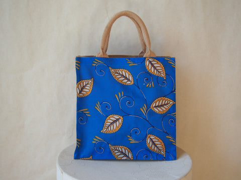 Eco Friendly Textile Fabric Print Burlap Market/Tote Bag by Maya's Ideas