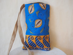 Golden Leaf Eco Friendly Organic Burlap Cross Body Bag By Maya's Ideas