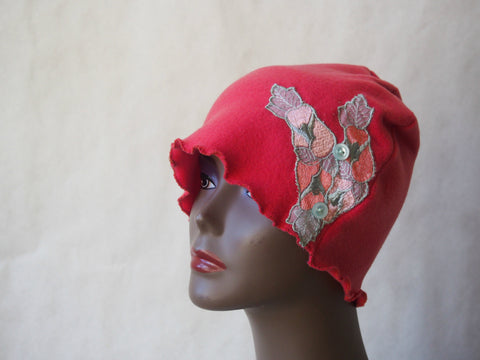 Coral Peach Paradise Eco Friendly Cloche by Maya's Ideas