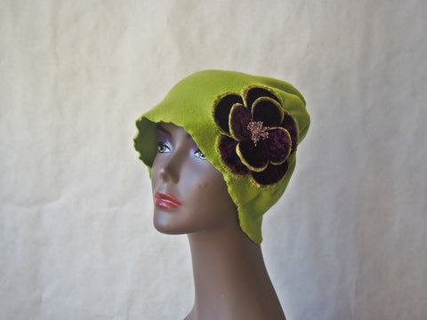 Lime and Plum Eco Friendly Cloche by Maya's Ideas