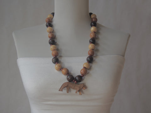 Eco Friendly Majestic Pride Wooden Beaded Necklace