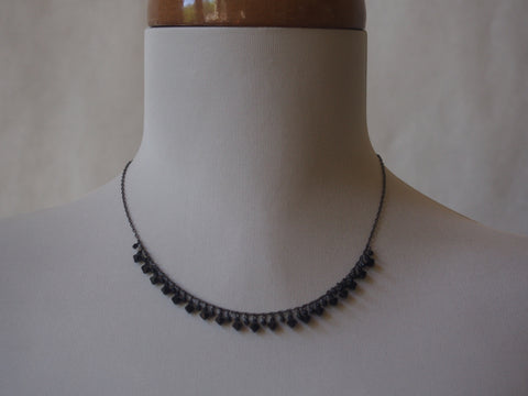 Onyx Raindrops Necklace