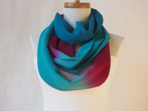 Ombre Turquoise and Fuschia Infinity Scarf be Maya's Ideas