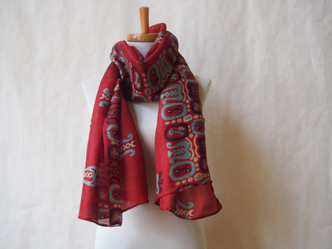 Cranberry Cove Eco Friendly Scarf/Shawl with Gemstone Accents