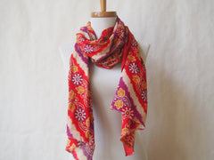 Happy Happy Eco Friendly Scarf/Shawl with Gemstone Accents