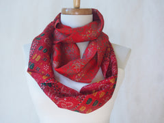 Confetti Garden Raw Silk Infinity Scarf by Maya's Ideas
