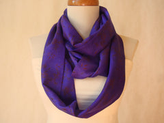 Purple Party Silk Infinity Scarf by Maya's Ideas