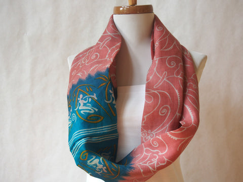 Water Bearer Silk Print Infinity Scarf by Maya's Ideas