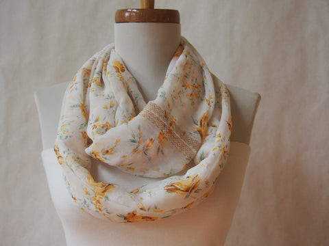 Golden Roses Infinity Scarf by Maya's Ideas