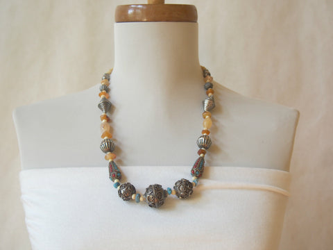 Tibetan/Nepalese Gemstone Necklace