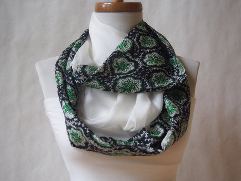 Emeralds In The Clouds Silk Infinity Scarf by Maya's Ideas