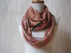 Confetti Silk and Organic Cotton Voile Infinity Scarf by Maya's Ideas