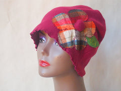 Berries and Plaid Flower Eco Friendly Cloche by Maya's Ideas