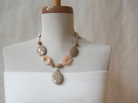 Rose Quartz and Agate Necklace