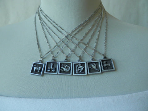 Groovy Pewter Zodiac Necklaces (Last Few Remaining)