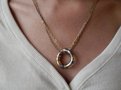 Tri-Metal Circle Necklace by Maya's Ideas