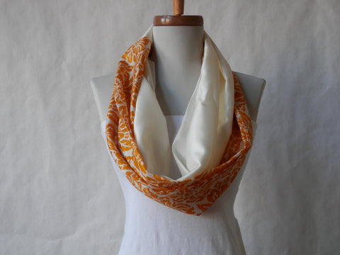 Ivory Golden Sun Silk Long Scarf by Maya's Ideas