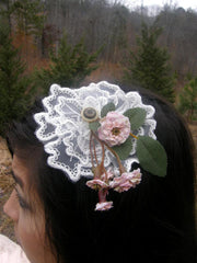 Victorian Antique Lace Headband by Maya's Ideas