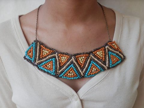 Ethnic/Tribal Beaded Necklace