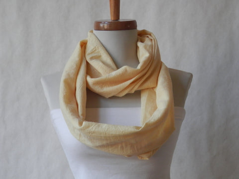 Eco Friendly Organic Cotton Buttercup Yellow Sunny Day Infinity Scarf By Maya's Ideas