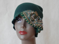 Forest Green Fantasy Fleece Cloche by Maya's Ideas