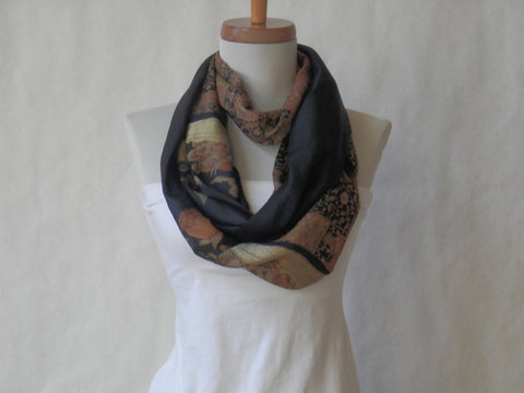 Evening Harvest Silk Infinity Scarf by Maya's Ideas