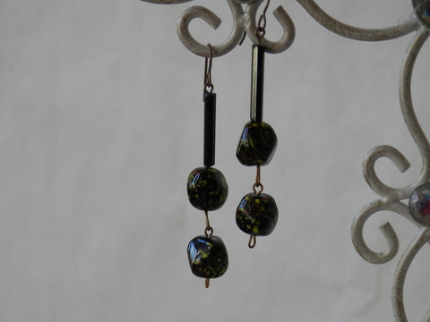 Murano Glass and Lampwork Beaded Earrings
