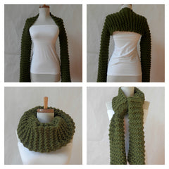 Vegan Shrug/Arm Warmer/Cowl/Scarf by Maya's Ideas