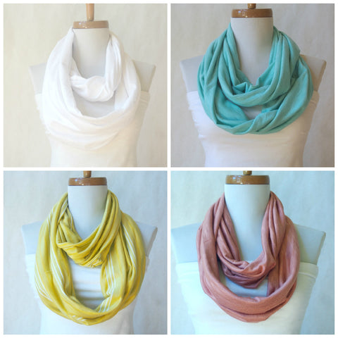 SALE-- Color Palette Spring/Summer Infinity Scarves By Maya's Ideas