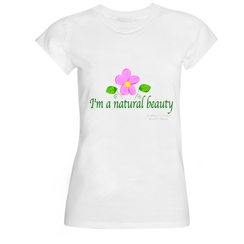 """I'm A Natural Beauty"" Basic Logo Ver. - Organic Cotton T-Shirt"