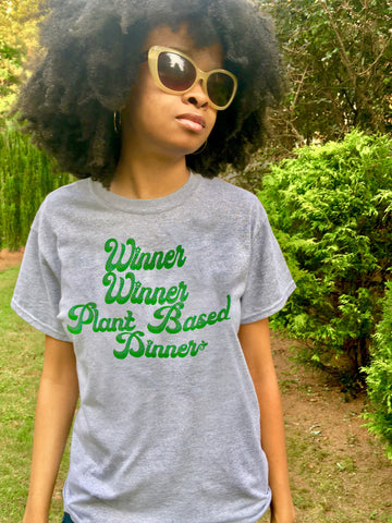 Limited Edition Winner Winner Plant Based Dinner Original Design T-Shirt