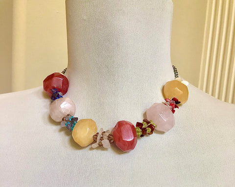 Chunky Gemstone Choker Necklace