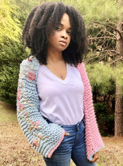 Cotton Candy Upcycled Yarn Shrug (Limited)