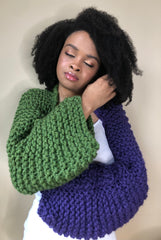 Violet Verte Upcycled Yarn Shrug (Limited)
