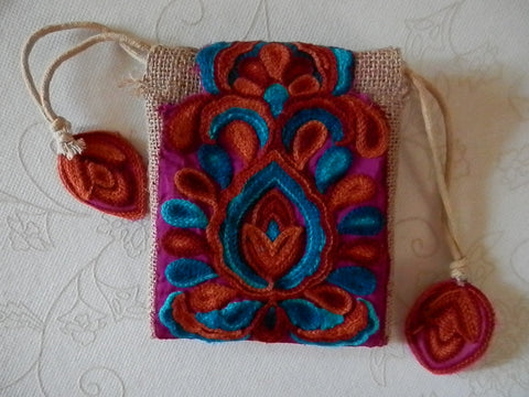 Magic Carpet Eco-friendly Burlap Mini-Purse/Wristlet
