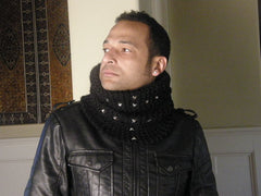 SuperBad Chunky Black Cowl Neckwarmer - A Maya's Ideas Original