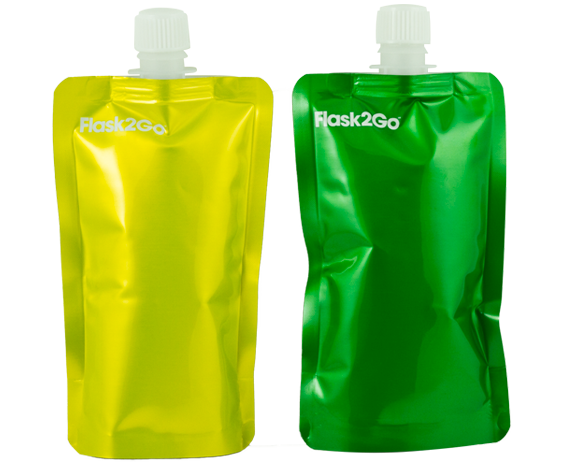 Green and Yellow Flasks