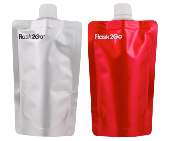 Red and White Flasks
