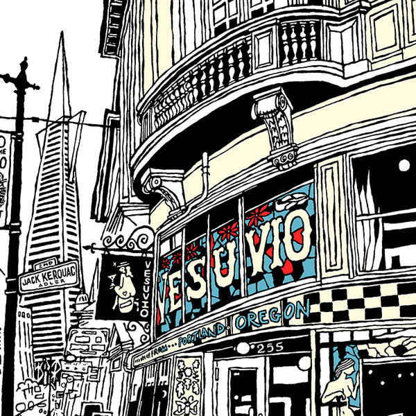 vesuvio cafe san francisco art by john tebeau
