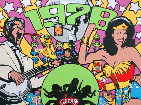 """1978"", pop art painting: nostalgia by John Tebeau"